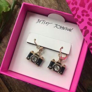 Betsey Johnson Camera Charm earrings